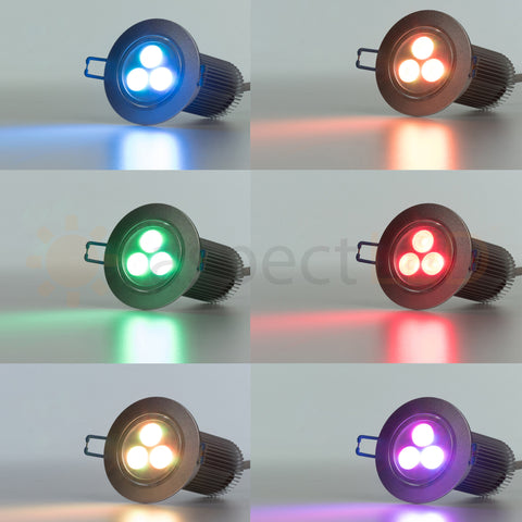 Color modes on RGBW recessed canless LED light