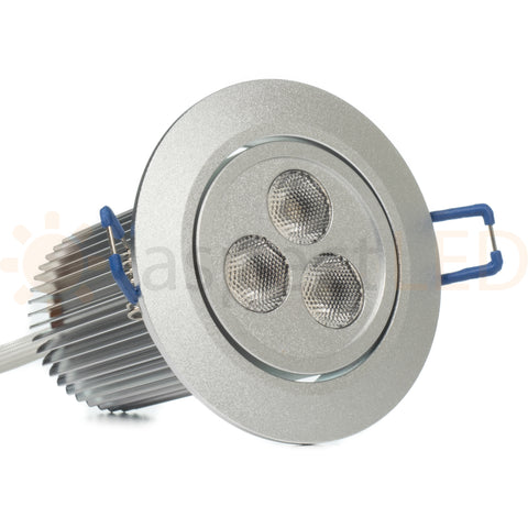 Satin nickel aluminum color changing LED downlight
