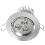 Satin nickel aluminum ultra bright gimbal LED downlight