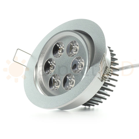 Adjustable gimbal head recessed light for sloped ceilings