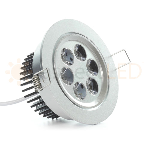 "4.2"" Recessed Light for flat or Sloped Ceilings 6 LED - 6W"
