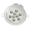 "5.4"" Recessed Light for Flat or Sloped Ceilings 9 LED - Ultra Bright (27W)"
