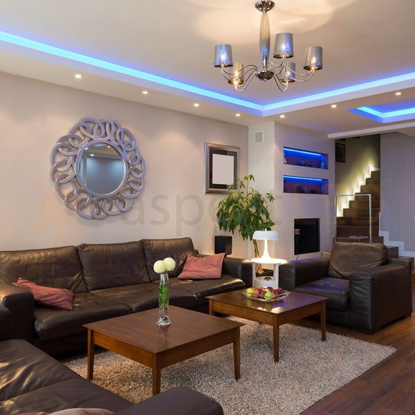 "22 Cool Living Room Lighting Ideas And Ceiling Lights: 4.75"" Ultra-Thin LED Recessed Low Profile Downlight"