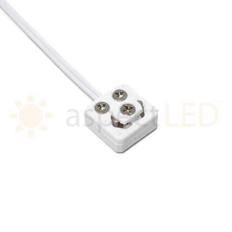 Quick Connector for Universal Wired Low Voltage Retail Shelf Lighting System