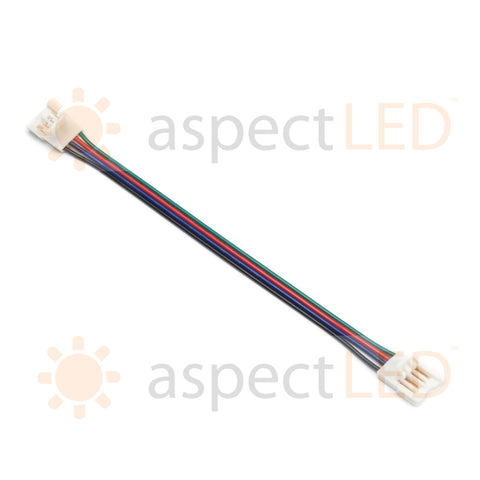 Flexible Strip Light Connector with Connector on Both Ends