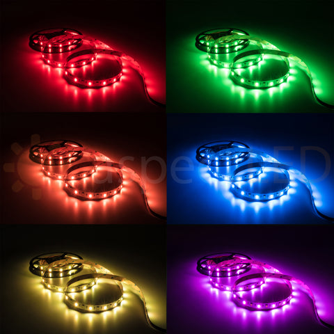 RGB+W Color Changing Flexible LED Strip Light 450 lm/ft