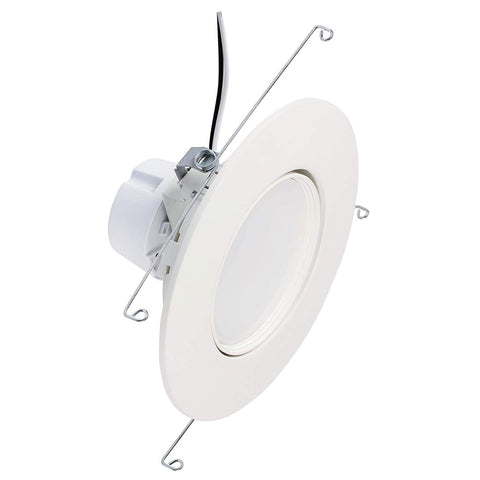 "6"" Dimmable Single Array LED Recessed Gimbal Trim (LED Retrofit)"