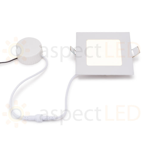 "4.75"" Ultra-Thin Square Recessed In-ceiling Light - 6 Watt (45 Watt Equivalent)"