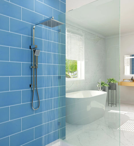 Square Rainfall & Handheld Shower Head Diverter Set