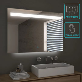 1000x700mm Bathroom LED Mirror Touch Switch