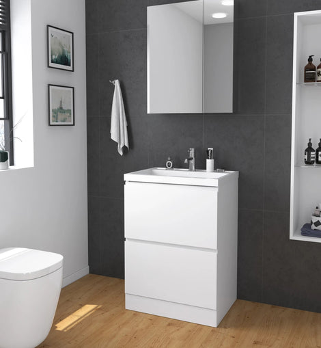 Freestanding Bathroom Vanity Cabinet Storage Unit-600x450x850mm
