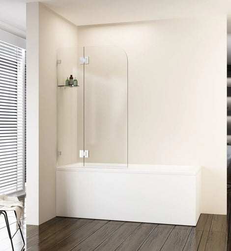 Over Bath Shower Screen Swing Glass