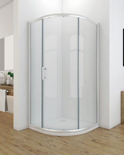 Curved Single Sliding Shower Screen