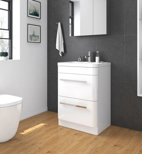 Bathroom Vanity Cabinet Storage Wash Basin Unit-600x450x850mm