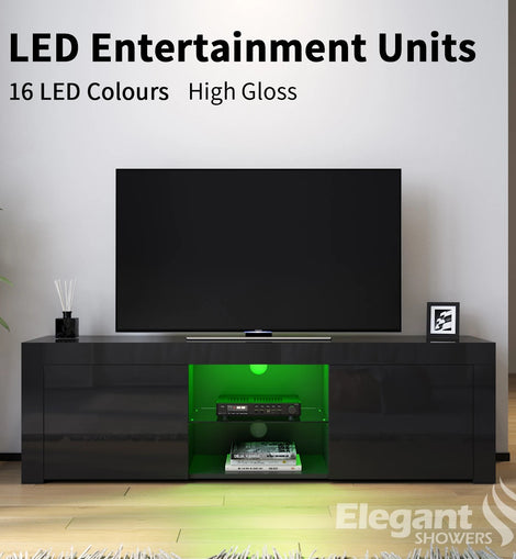 TV Cabinet 16 Colors LED Entertainment Units Storage Stand 1500mm