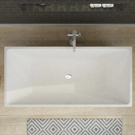 Bathroom Square Free Standing Bath Tub Acrylic-1500/1700x800x600mm