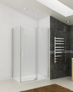 Fully Frameless Pivot Shower Screen Bathroom Cubical Safety Glass