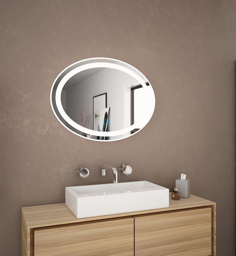 800x600mm Bathroom Make Up LED Mirror Touch Switch Anti Fogging Bright Light