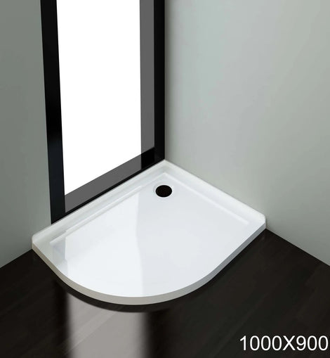 Light Weight Urethane-marble Curved Shower Base-900x1000mm
