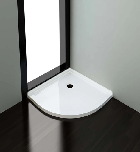 Light Weight Urethane-marble Curved Shower Base