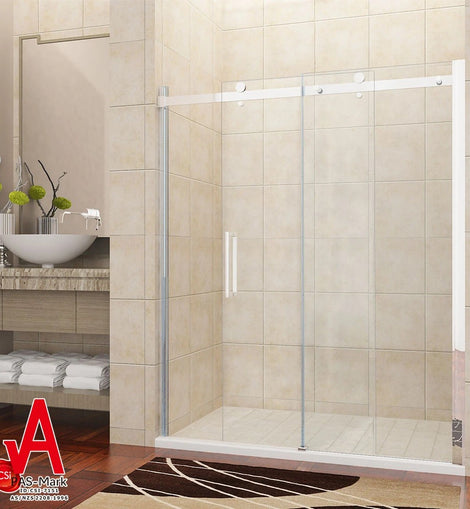 Frameless Sliding Shower Door Fits Adjustable