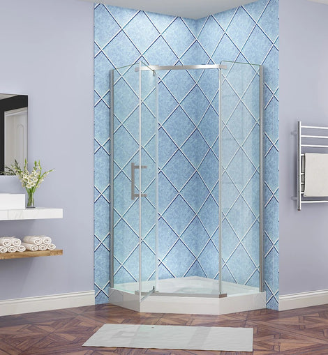 Diamond Frameless Shower Screen