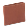 200160 - slim bifold wallet in tan color cow leather- closed view