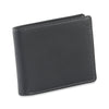 Style n Craft 200166 bifold wallet with side flap in black color cow leather - closed view