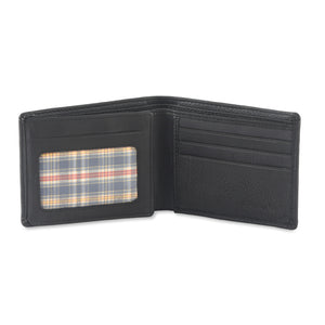 Style n Craft 200166 bifold wallet with side flap in black color leather - open view 1