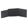 Style n Craft 200166 bifold wallet with side flap in black color cow leather - open view 2