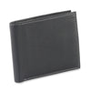 Style n Craft 200302 bifold wallet with center flap in black color cow leather - closed view