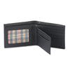 Style n Craft 200302 bifold wallet with center flap in black color cow leather - open view 1
