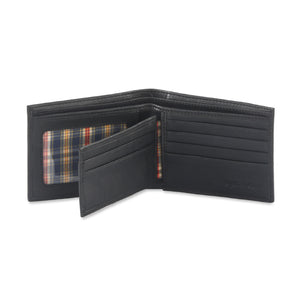 Style n Craft 200302 bifold wallet with center flap in black color leather - open view 2