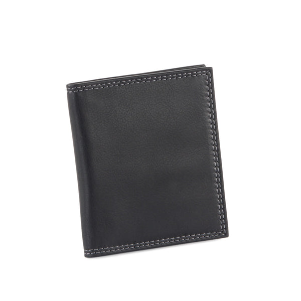 Style n Craft 300703-BL Credit Card / Business Card Case in Black Leather - Closed Front View