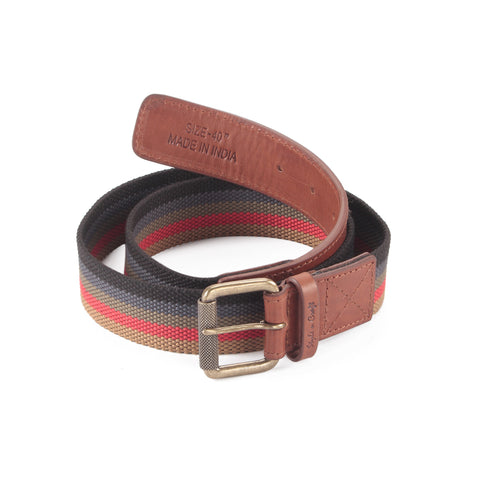 390190 Leather/Webbing Combination Belt in Tan Color | Style n Craft