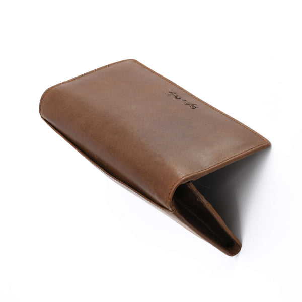 Style n Craft 391103 Ladies Long Clutch Wallet in Oak Color Leather - Top View