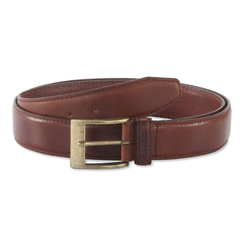 391903 - one and a half inch wide leather belt in brandy color top grain leather - front view