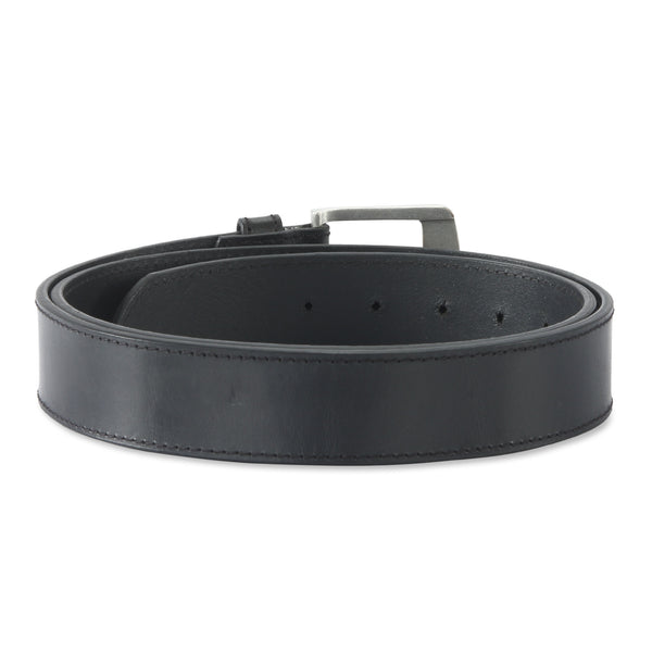 392701 - one and a half inch wide leather belt in black color top grain hunter leather - back view