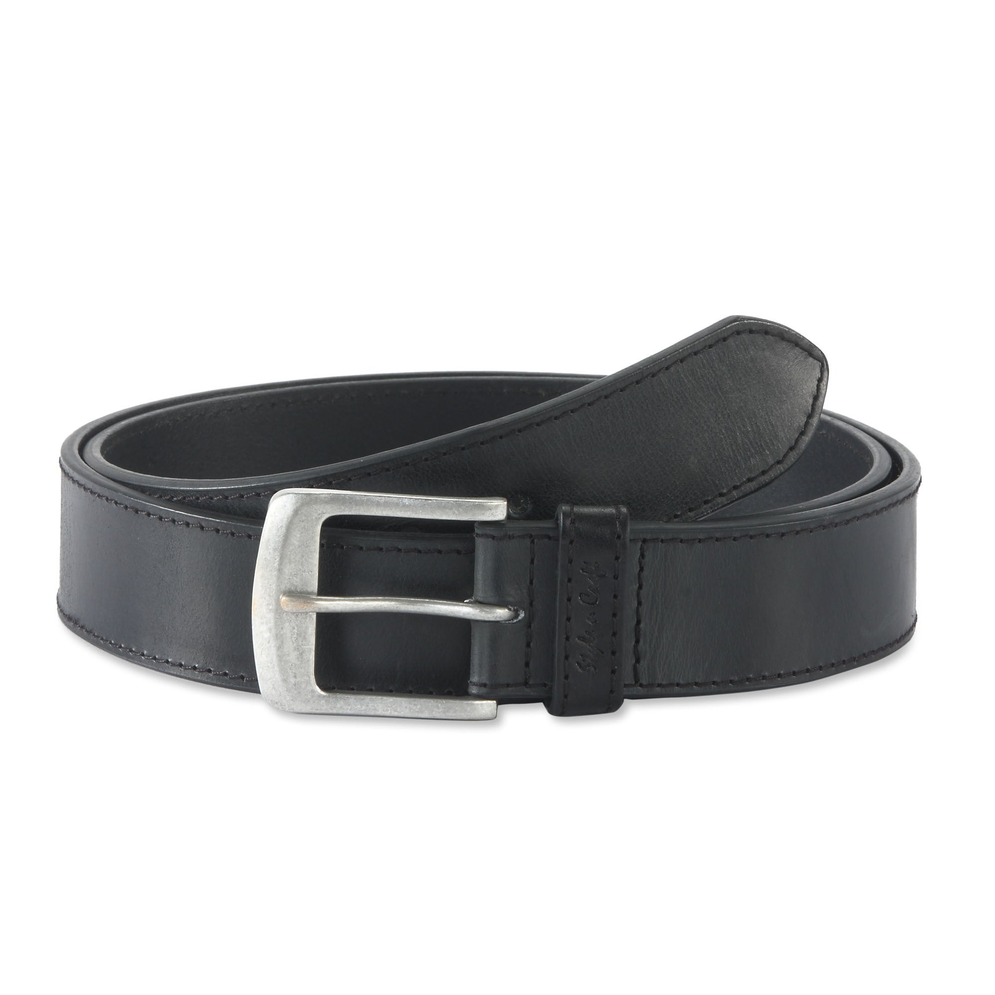 Style N Craft 392701-L One and a Half Inch Leather Belt in Black Color at Sears.com