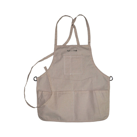 60516 - 4 Pocket Loop Neck Bib Apron in Canvas