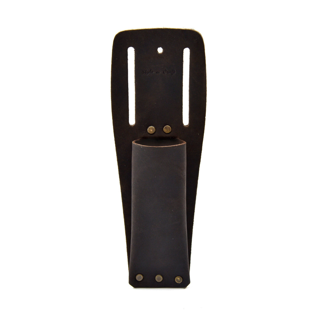 Style n Craft - 70010 Utility Knife Sheath in Heavy Duty Top Grain Oiled Leather in dark brown color