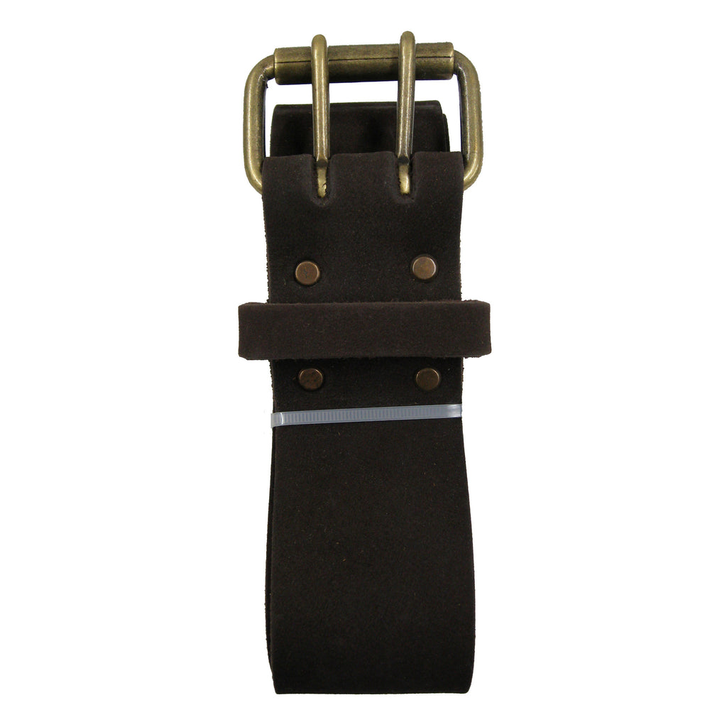 2 Inch Wide Work Belt - Extra Long - in Heavy Top Grain Oiled Leather