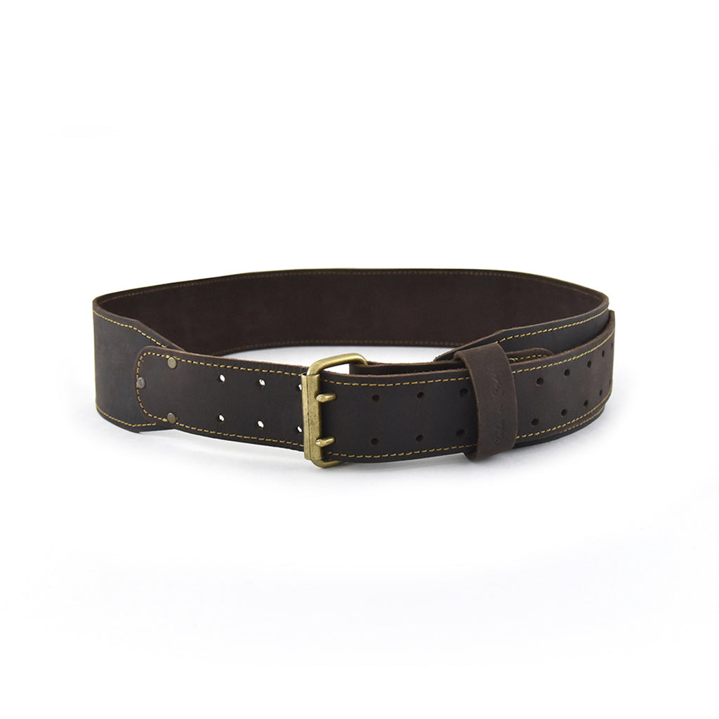 74055 3 inch wide tapered leather work belt in