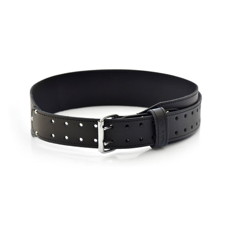 75437 - 3 Inch Wide Tapered Work Belt in Heavy Leather in Black