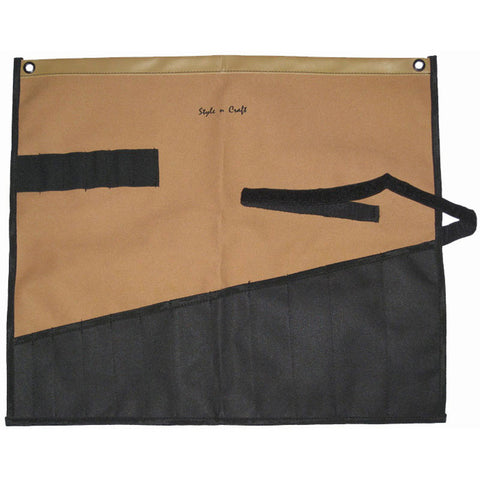 76509 - 12 Pocket Wrench Roll Tool Pouch in Polyester