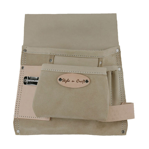 92825 - 6 Pocket Nail & Tool Pouch in Top Grain Leather