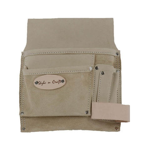 92826 - 5 Pocket Nail & Tool Pouch in Top Grain Leather