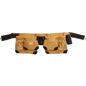 Style n Craft 93428 - 10 Pocket Tool Belt in Top Grain Leather