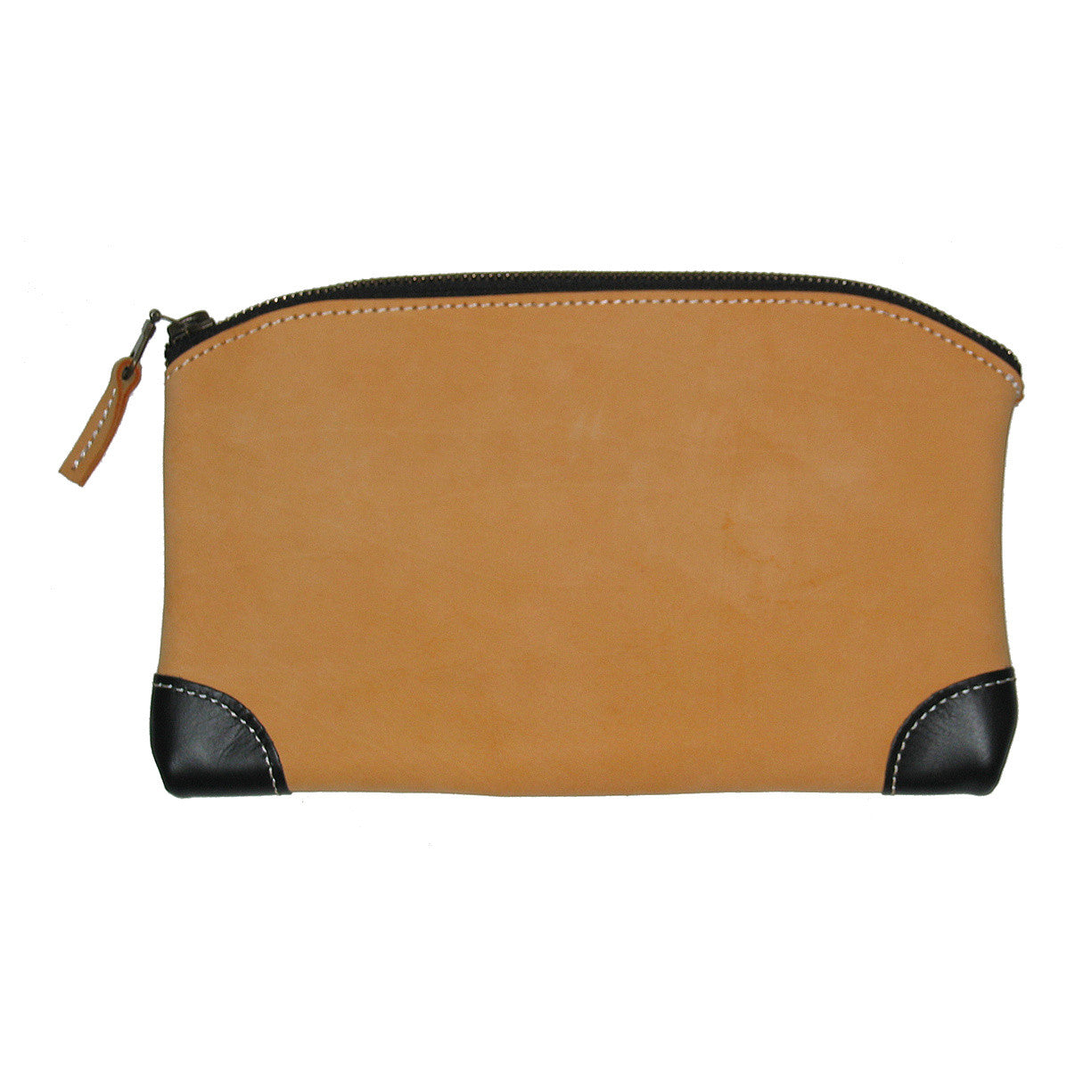 Multi Purpose Zippered Bag in Top Grain Leather