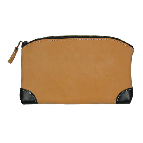 93523 - Multi Purpose Zippered Bag in Top Grain Leather